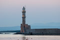 Chania lighthouse. Stock Photography