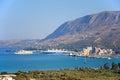 Chania port and coastline, Crete.