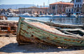 Chania shipwreck Stock Images