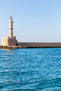 Chania town crete greece light house in greec Stock Images