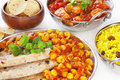 Channa Dhal and Chapatis Indian Curry Royalty Free Stock Photo