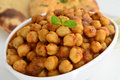 Channa masala indian dish prepared channa chickpeas Royalty Free Stock Photo