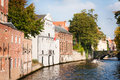 Channel in bruges beautiful view of a belgium Royalty Free Stock Photography
