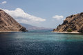 Channel Between Islands in Komodo National Park Royalty Free Stock Photo