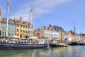 Channel Nyhavn are in city Copenhagen Royalty Free Stock Photo
