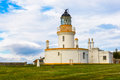 Chanonry lighthouse at point scotland Royalty Free Stock Image