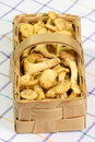 Chanterelles in a Basket Stock Photography