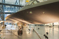 Chantilly usa september lockheed sr blackbird on displ display in national air and space museum in steven f udvar hazy center in Stock Image