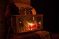 Chanuka lights in Jerusalem Royalty Free Stock Photo