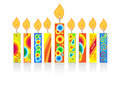 Chanukah background with candles Royalty Free Stock Photo