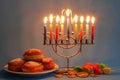 Chanukah symbols Royalty Free Stock Photo