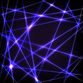 Chaos neon lines background with Royalty Free Stock Photos