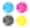 Chaos nest ball sphere logo elements spheres in cmyk colors a design element or as a itself Stock Photos