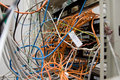 Chaos from wires and contacts Stock Image