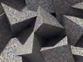 Chaotic concrete cubes blocks architecture wall background