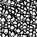 Chaotic geometric texture / pattern with random edgy shapes