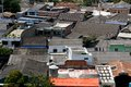 Chaotic jumble of caribbean roofs a residential neighborhood in cartagena de indias colombia seen from above Stock Image
