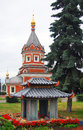 Chapel of Alexander Nevsky and Japanese traditional building model