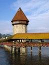 Chapel Bridge in Lucerne-Luzern, Switzerland