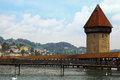 Chapel bridge in lucerne switzerland famous landmark of is the oldest wooden europe originally built th Royalty Free Stock Photography
