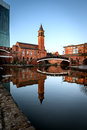 Chapel on Canals of Castlefield Manchester Royalty Free Stock Photo