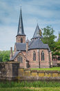 Chapel at castle de haar the netherlands one of chapels that are part of a medieval fortress with towers ramparts canals and Royalty Free Stock Photography