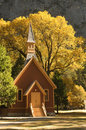 Chapel in Fall Color Stock Photos