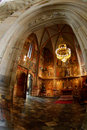 Chapel of gothic cathedral Stock Photos