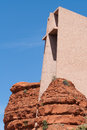 Chapel of the holy cross exterior view in sedona az Stock Image