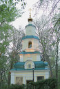 Chapel of the holy virgin ulyanovsk simbirsk diocese it is located in park named after ulyanov built in in honor Stock Photography