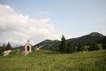 Chapel in mountains idyl near zavizan mountain house velebit national park croatia Royalty Free Stock Image