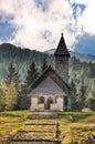 Chapel in Nassfeld mountain mountains Austria Stock Photo