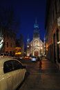 Chapel notre dame de bonsecours in montreal Royalty Free Stock Photo