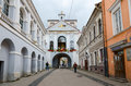 Chapel with our lady of gate of dawn at holy gate gate of dawn vilnius lithuania july unidentified people walk on the street near Stock Photos