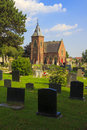 Chapel of rest and graveyard on a summers day Royalty Free Stock Photography