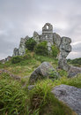 The chapel at roche rock an ancient ruined perched on top of a rocky granite outcrop known as located in mid cornwall dedicated to Royalty Free Stock Image
