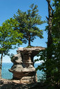 Chapel Rock, Pictured Rock National Lake Shore, Michigan, USA Royalty Free Stock Photo