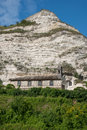 The chapel of saint adrien by white cliffs normandy Stock Photos