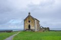 Chapel of santa catalina mundaka in spain on a cloudy day Stock Photography