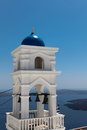 Chapel on santorini island in the cyclades greece Stock Photo