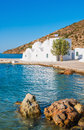 Chapel on Sifnos by the sea Royalty Free Stock Photos