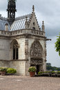Chapel st hubert where leonardo da vinci is buried in amboise france Stock Images