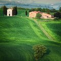 Chapel in Tuscany Stock Photography