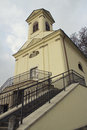 Chapel of virgin mary the is a classic building situated in the only cemetery in snina in slovakia Stock Photo
