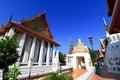 Chapel in wat intharam wat bang yi ruea nok the old uposatha of thonburi bangkok thailand Stock Photos