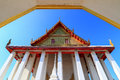 Chapel in wat intharam wat bang yi ruea nok the old uposatha of thonburi bangkok thailand Stock Images