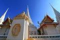 Chapel in wat intharam wat bang yi ruea nok the old uposatha of thonburi bangkok thailand Royalty Free Stock Images