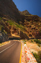 Chapmans peak the dangerous winding road on south africa Royalty Free Stock Image