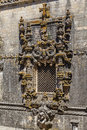 Chapter house manueline style window tomar portugal july famous in the templar convent of christ in tomar portugal unesco world Stock Image