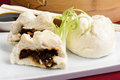 Char siu bao chinese steamed bun filled with bbq pork cantonese dim sum Stock Photo